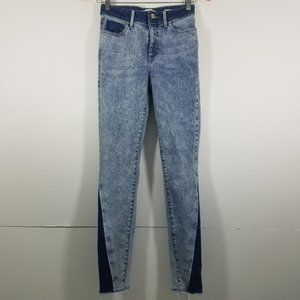 Zara Two Tones 1981 Skinny Jeans Size 26